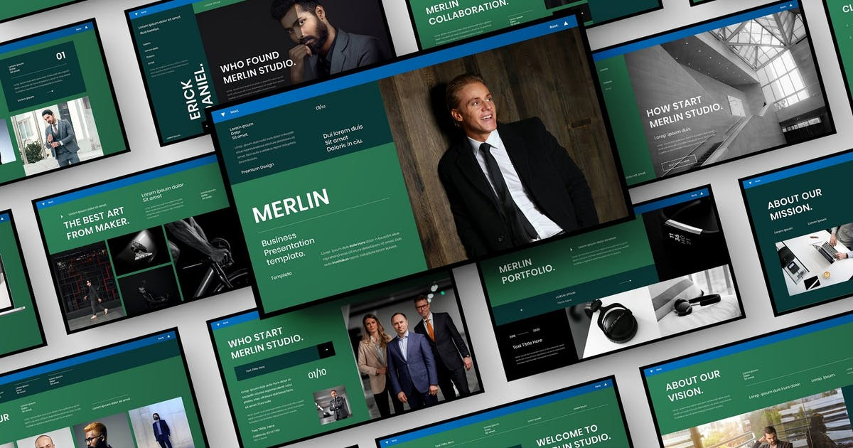 Download Merlin – Business PowerPoint Template by DensCreativeStudio