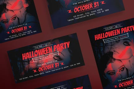Halloween Party Flyer and Poster Template