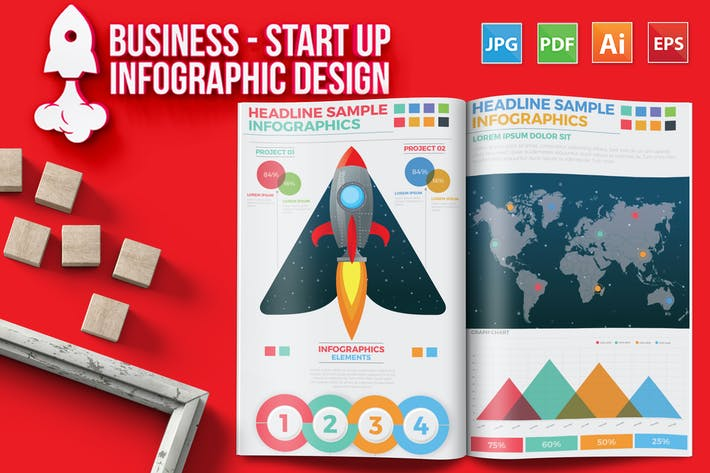 Thumbnail for Business - Start Up Infographic Design