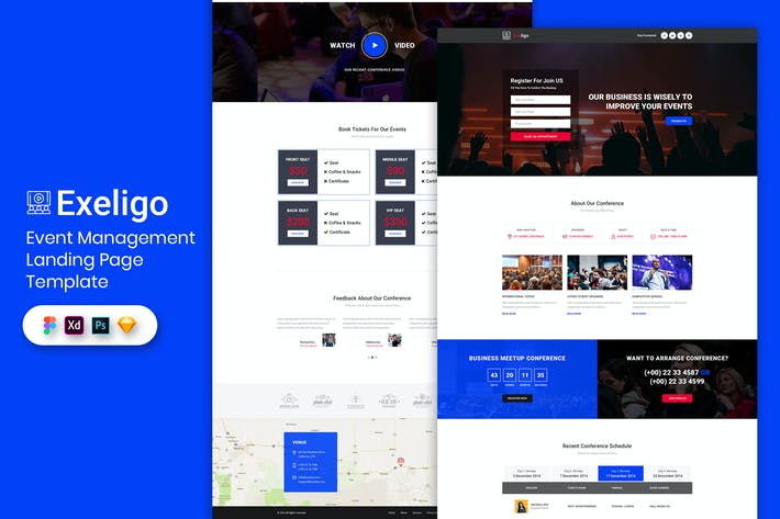 Thumbnail for Event Management - Landing Page Template