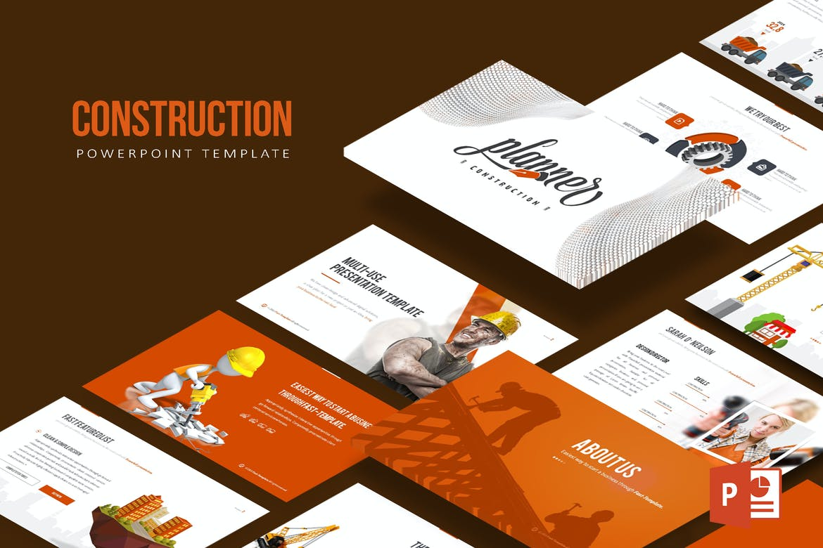 Construction powerpoint template by inspirasign on envato elements alramifo Images