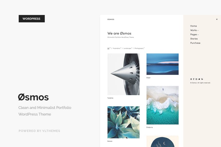 Thumbnail for Osmos - Minimalist Portfolio WordPress Theme