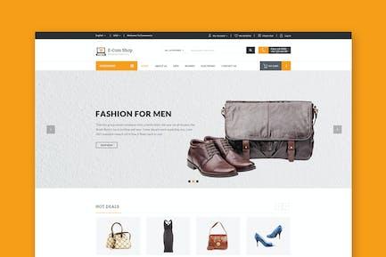 Ecom - Responsive eCommerce PSD Template