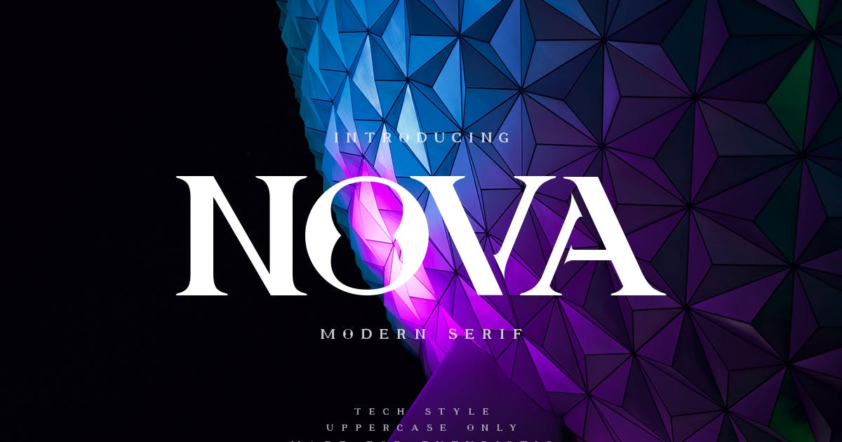 Download Nova | Future Font by Muntab_Art