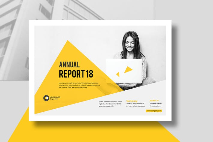 Thumbnail for Annual Report Landscape Template