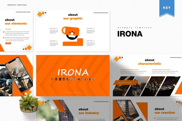 Thumbnail for Irona | Keynote Template