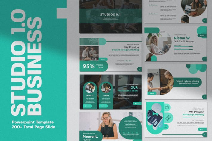 Thumbnail for Studio 1.0 Powerpoint Template