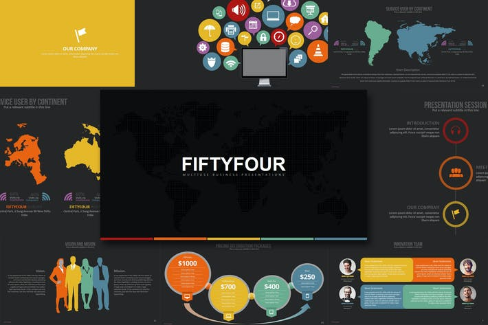 Thumbnail for Fifty Four - Powerpoint Template