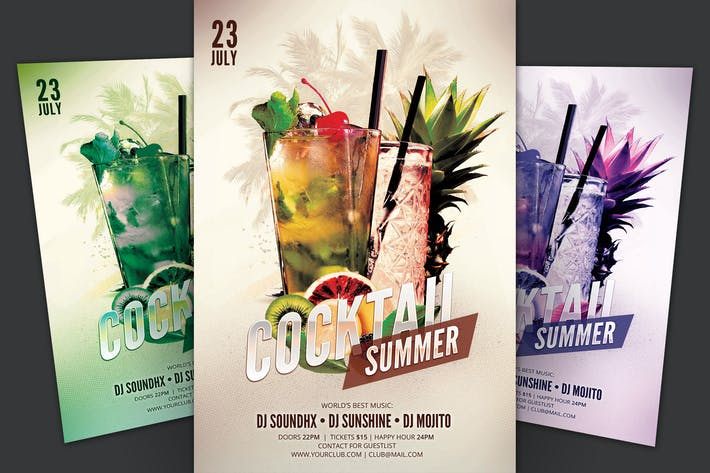 Thumbnail for Cocktail Summer Flyer