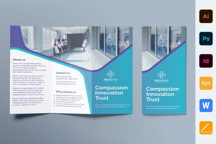 Thumbnail for Medical Clinic Broschüre Trifold