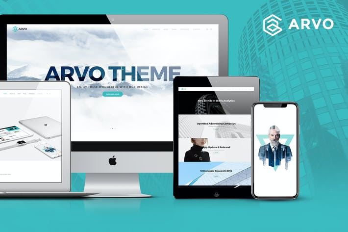 Thumbnail for Arvo - Clever & Flexible Multipurpose PSD Template