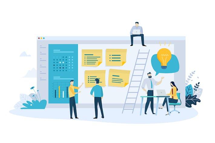 Thumbnail for Concepto de Negocios de Diseño plano Creativo