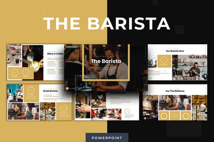 Бариста - Powerpoint Шаблон