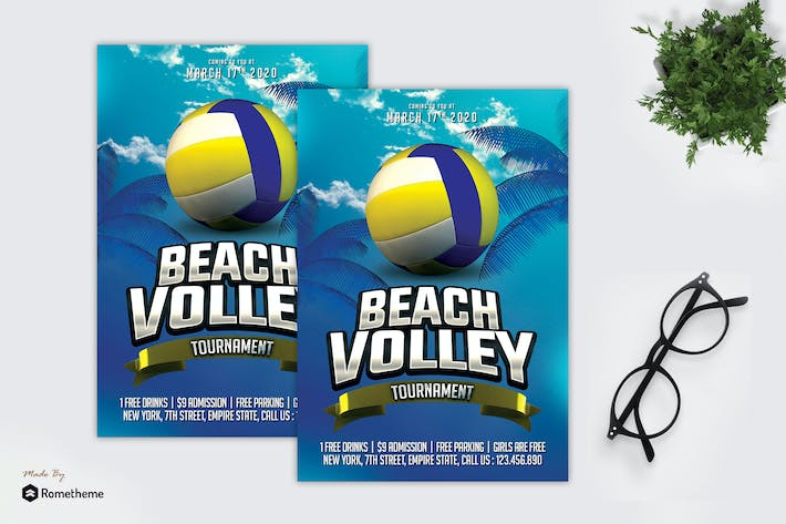 Thumbnail for Tournoi de beach volley - Sport dépliant MR