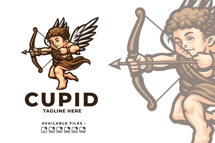 Thumbnail for Cupid Cartoon Logo
