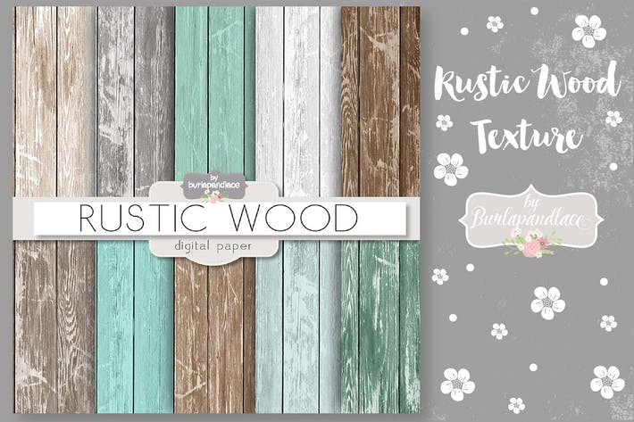 Thumbnail for Rustic wood digital paper