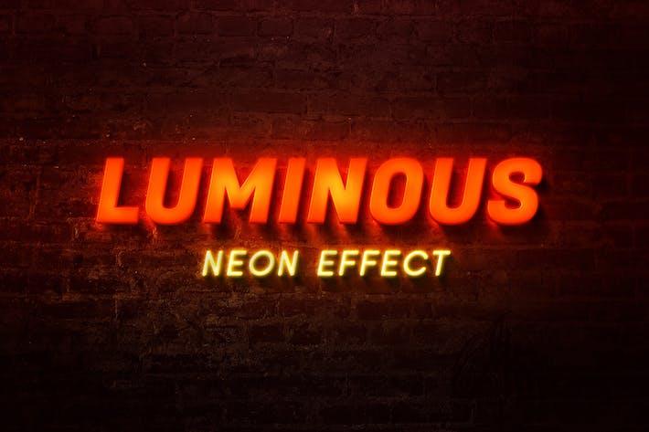 Thumbnail for Luminous Neon Text Effect