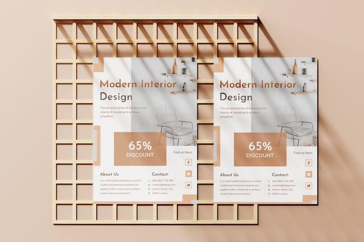 Thumbnail for Minimalist Interior Flyer Template