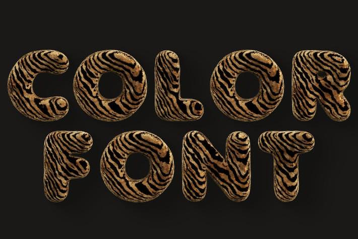 Tiger - Color SVG Font