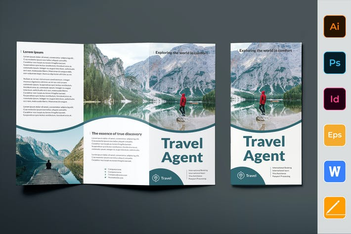 Thumbnail for Travel Agent Agency Brochure Trifold