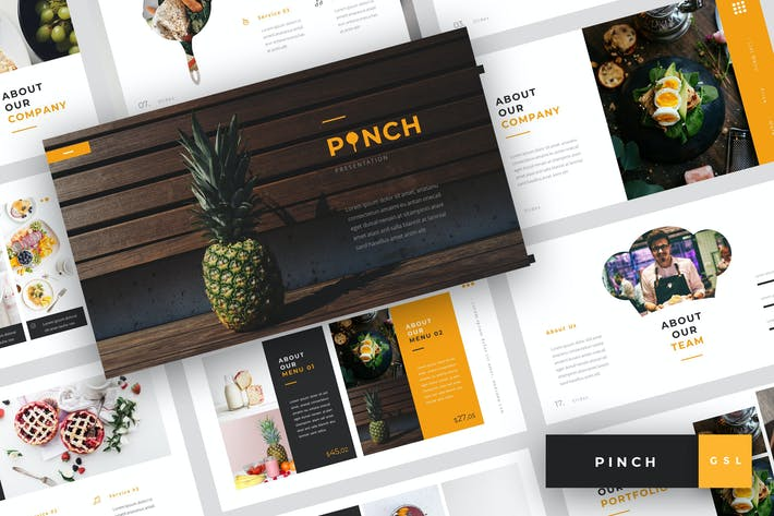 Thumbnail for Pinch - Food Google Slides Template