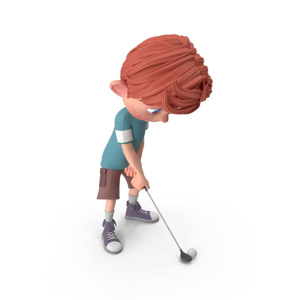 Thumbnail for Cartoon Boy Charlie Golfing