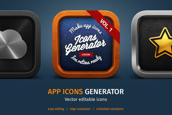 Thumbnail for APP Icons Generator vol. 1
