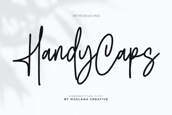Thumbnail for Handycaps Font