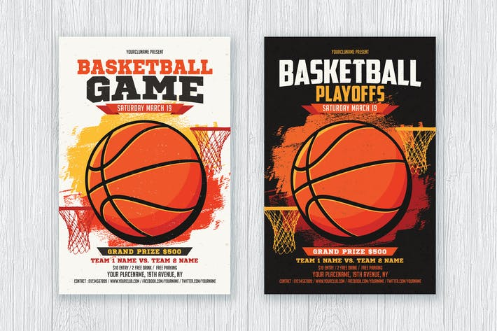 Thumbnail for Basketball Game / Playoffs Flyer