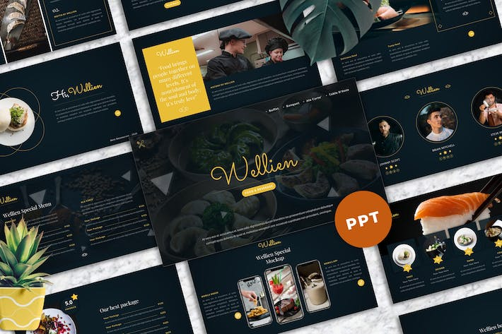 Thumbnail for Wellien - Food & Beverage PowerPoint Template