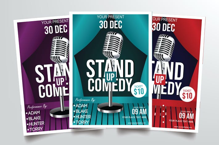 Thumbnail for Stand Up Comedy Vol.1 Flyer Template