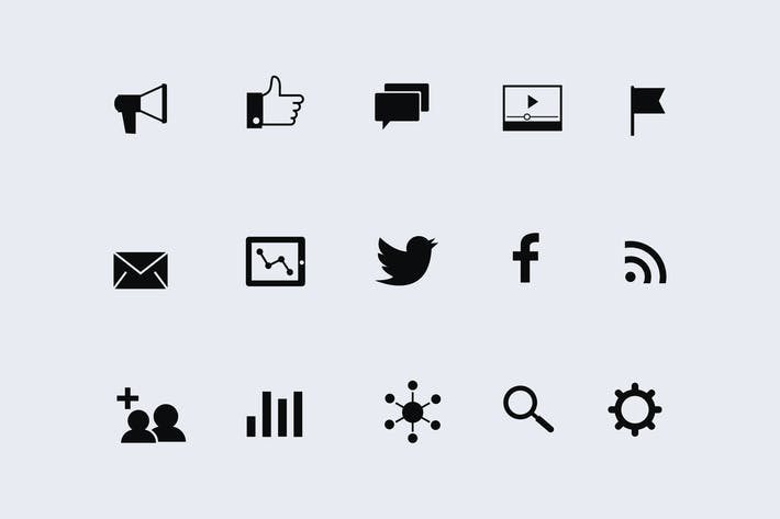 15 Digital Marketing Icons by creativevip on Envato Elements