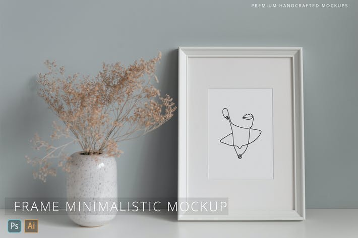 Photo & Picture Frame Mockup Minimalistic Interior