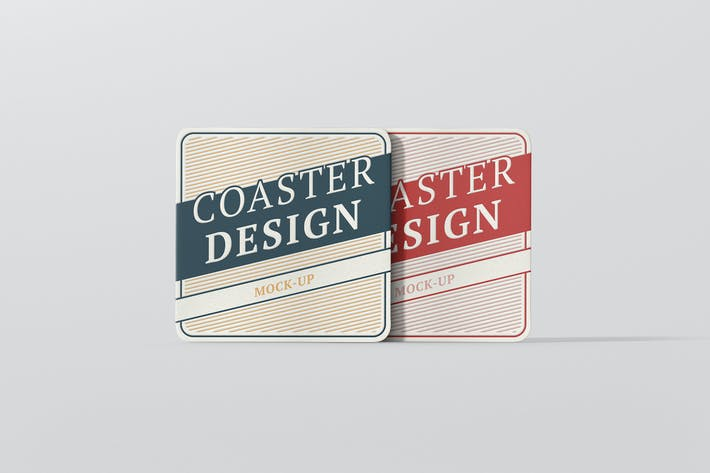 Thumbnail for Square Coaster Mock-Up Round Corner