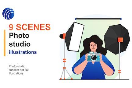 Photo Studio Web Scenes Set