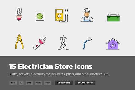 15 Icons für Elektriker