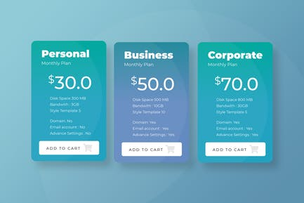 Pricing Table Vol 01 - Page