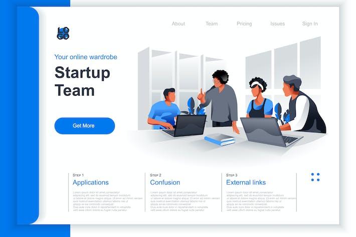 Thumbnail for Isometrische Startup-Perspektive flaches Konzept