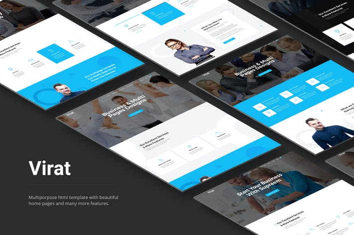Thumbnail for Virat- Responsive Multipurpose HTML5 Template