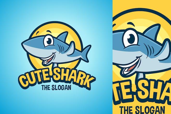 Thumbnail for Cartoon Waving Shark Character Mascot Logo