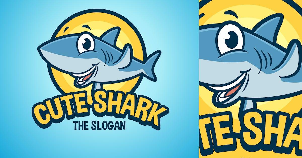Download Cartoon Waving Shark Character Mascot Logo by Suhandi