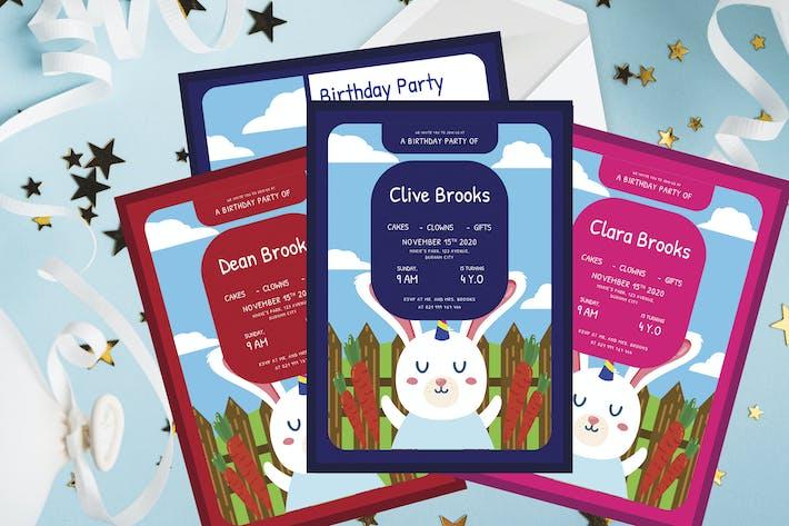 Thumbnail for Bunny - Birthday Kids Invitation