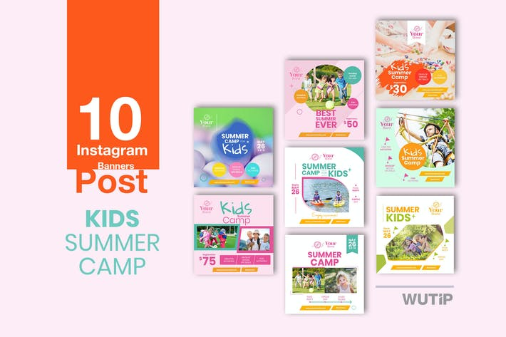 Thumbnail for 10 Instagram Post - Kids Summer Camp