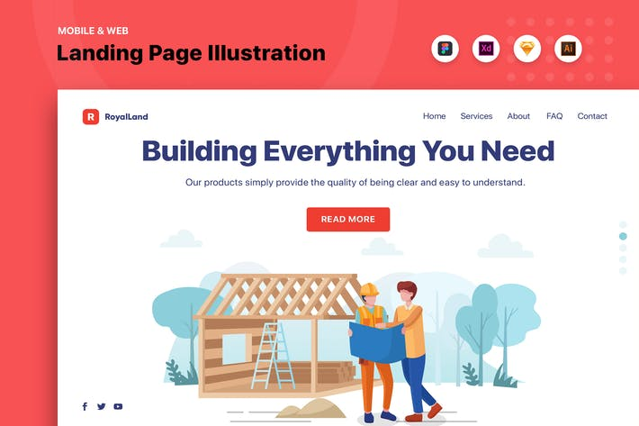 Thumbnail for Construction Web Header Template