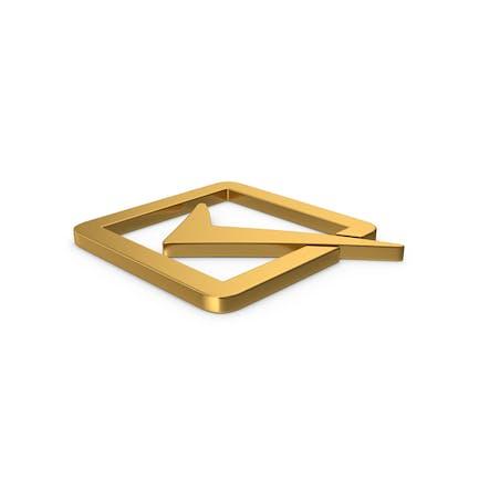 Gold Symbol Check Box