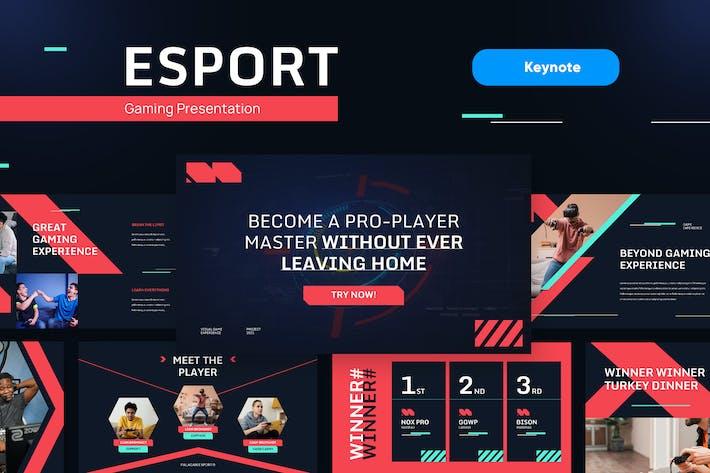ESPORT - Шаблон Keynote игр и технологий