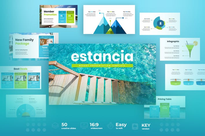 Thumbnail for Estancia - Resort & Hotel Keynote Presentation