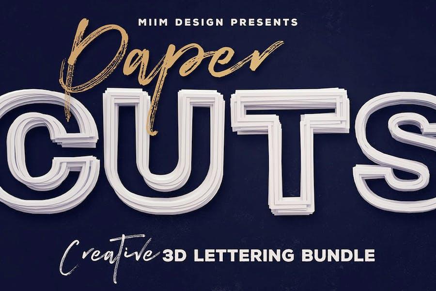 Paper Cut – 3D Lettering