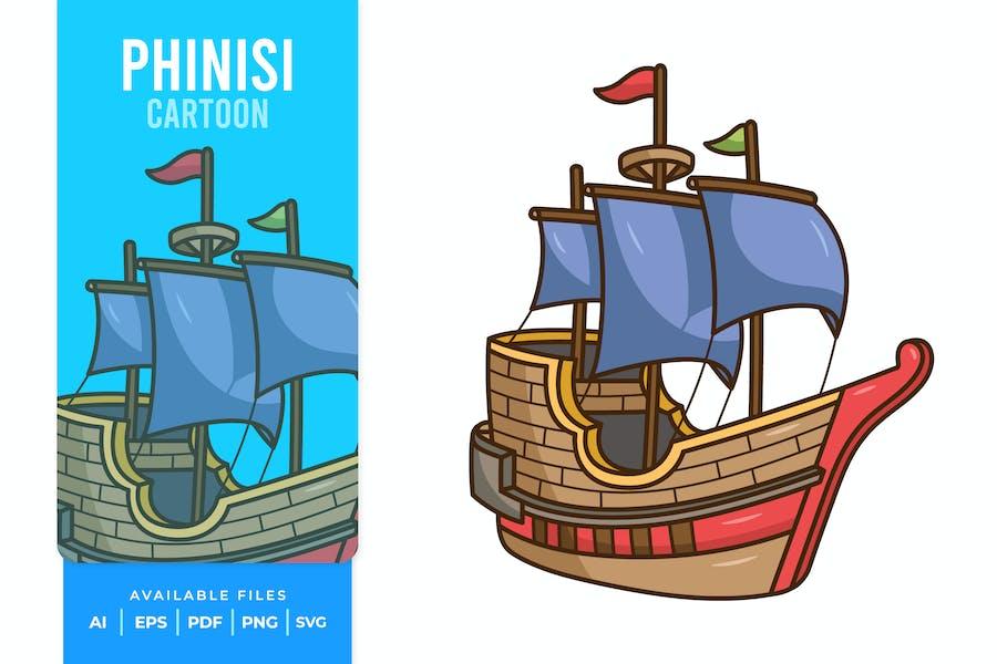 Phinisi Cartoon