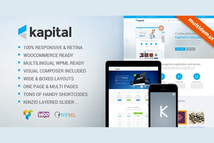 Thumbnail for Kapital - Responsive Multi-Purpose Template
